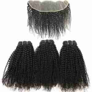 WHOLESALE 12A Grade Afro Kinky Curly BUNDLES with CLOSURES & FRONTAL