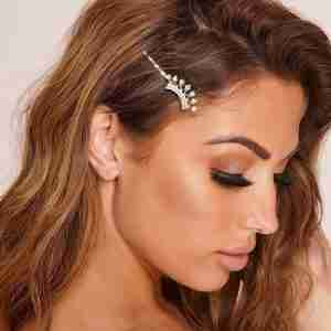 Amber Gold Crown Hair Pin