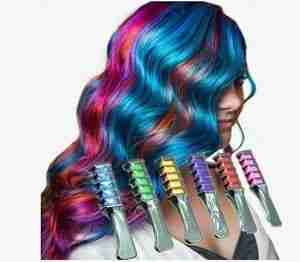 Shimmer Hair Chalk Comb 6pc
