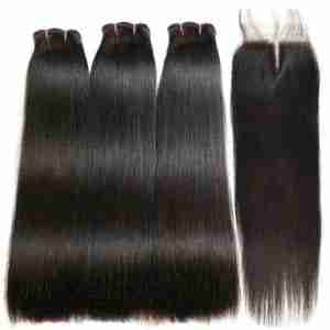 WHOLESALE 12A Grade Straight Hair BUNDLES with CLOSURES & FRONTAL