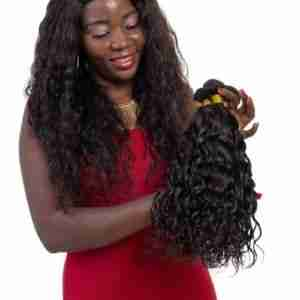 9A Grade Brazilian Natural Wave 1/3/4 Bundles with Frontal 100% Human